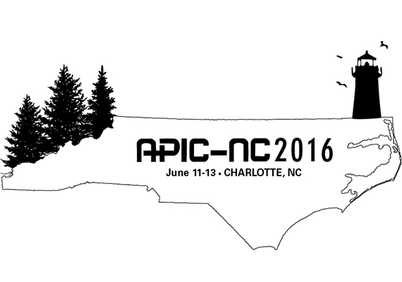 T-shirt graphic made for the APIC-NC 2016 conference.