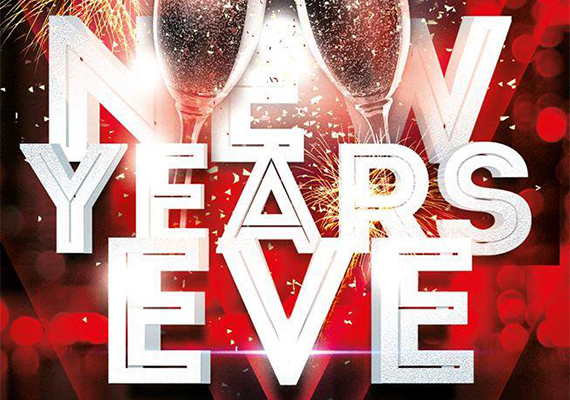 New Years Eve flyer for Havoc Raleigh nightclub.